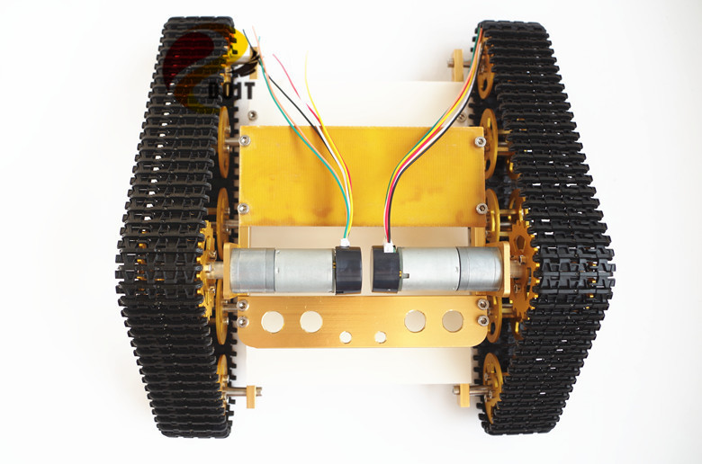 Official DOIT Metal Tank Chassis Tracked Model Crawler Intelligent Barrowload Tractor Obstacle Caterpillar Wall-e Infrared<br><br>Aliexpress