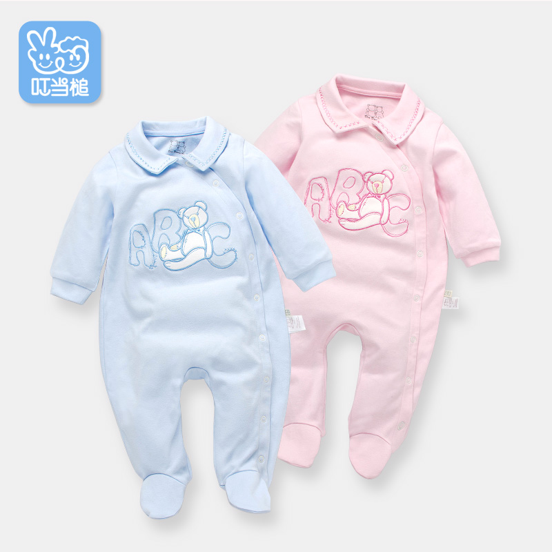 Dinstry newborn clothes 3-6 months baby jumpsuit Spring baby clothes 1 year  cartoon pajamas baby suit layette<br>