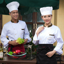 Hot Sales Man Chef's Uniform Long Sleeve Restaurant Chef Jackets White Chef Service for Women / Men