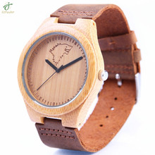 New Dropshipping 2017 Luxury Brand Male Wood Gift Handmade Bamboo Watch Men Wooden Wristwatches relogio masculino 10pcs/Lot