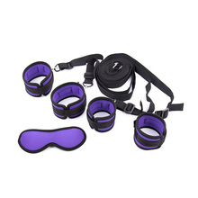 purple sponge underbed restraint kit sex bondage restraints system,sex toys for couples,handcuffs and ankle cuffs binding straps