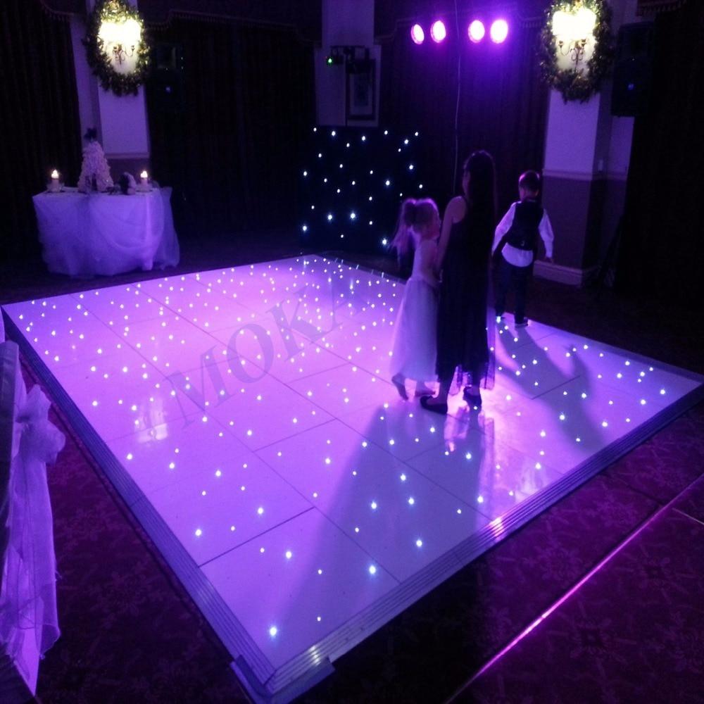 14*14 feet highest quality LED effects dance floors starlit dancefloors white Wedding Dance Floor<br>