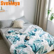 Svetanya Plants print Quilt Cotton bedding Throws Blanket (no Pillowcase)(China)