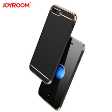 6 color case for iPhone 7 Plus 5.5inch fresh Black / Gold / Blue / Rose Golden / Silvery / Red 3 parts combination design(China)
