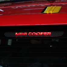 Airspeed Carbon Fiber Vinyl Brake Lights Cover High Mount Stop Lamp Stickers for MINI F55 R56 F56 R60 MINI COOPER S COUNTRYMAN