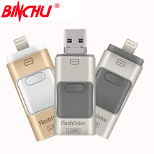 Buy BINCHU i-Flash Drive 8gb 32gb 64gb 128GB Mini Usb Pen Drive /Otg Usb Flash Drive iPhone 5/5s/5c/6/6 Plus/ipad Pendrive for $11.20 in AliExpress store