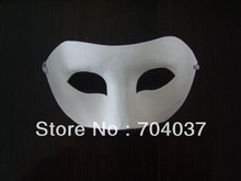 (100 pieces/lot) Plain White Paper Zorro Mask Pretend play masks Birthday party favors(China)