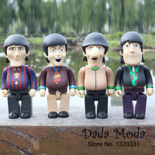 Rock&Roll Star beatles Yellow Submarine blocks John Lennon George Harrison Collectible Action Figure Toys 28cm 4pcs per set(China)