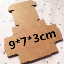 50 pcs 9*7*3cm Kraft paper gift box for wedding,birthday and Christmas party gift ideas,good quality for cookie/candy