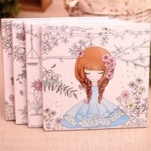 90 Pages Beautiful girl \Colouring Book Secret Garden Coloring Book For Relieve Stress Kill Time Graffiti Painting Drawing Book
