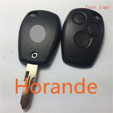 Horande replacement key for renault 3 buttons remote key shell key renault clio smart key renault kangoo modus(China)