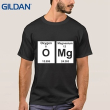 Top Quality Men's T Shirts O Neck Omg Periodic Table Cute Science Parody Nerd Geek College White Tee Shirt Cute