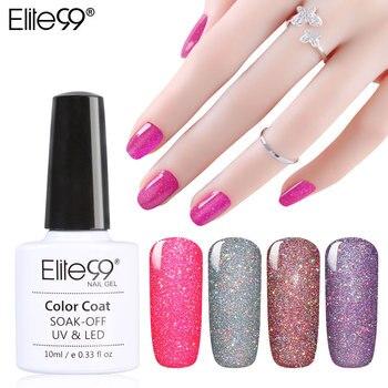 Elite99 Soak Off Bling Néon Couleur Gel UV LED Base Top Coat Shimmer Nail Art Merveilleux Vernis À Ongles 10 ML