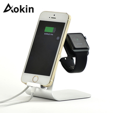 Aokin Universal Mobile Phone Desk Stand Phone Holder for iOS 7 6 Cellphone Tablet Watch Bracket Stands Mobile Phone Holder Stand(China)
