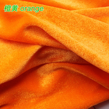 Orange Silk Velvet Fabric Velour Fabric Pleuche Fabric Table Cloth Table Cover Curtain Fabric Sold By The Yard(China)
