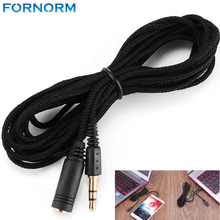 3.5mm 3M 9.8ft Earphone Extension Cable Female to Male Headphone Stereo Audio Extension Cable Cord Adapter for Phone PC MP3/4(China)
