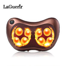 HealthCare Electric Infrared Heating Kneading Neck Shoulder Back Body Spa Massage Pillow Car Chair Shiatsu Massager Masaj Device(China)