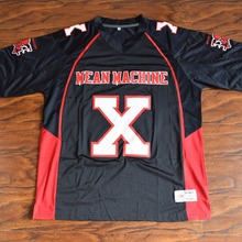 MM MASMIG Bill Goldberg Joey Battle Battaglio #X Mean Machine Football Jersey Stitched Black(China)