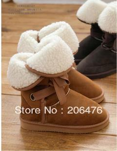 Vivi magazine 3 holes strap lacing snow boots knee-high snow boots bandage snow boots cotton-padded shoes female<br><br>Aliexpress