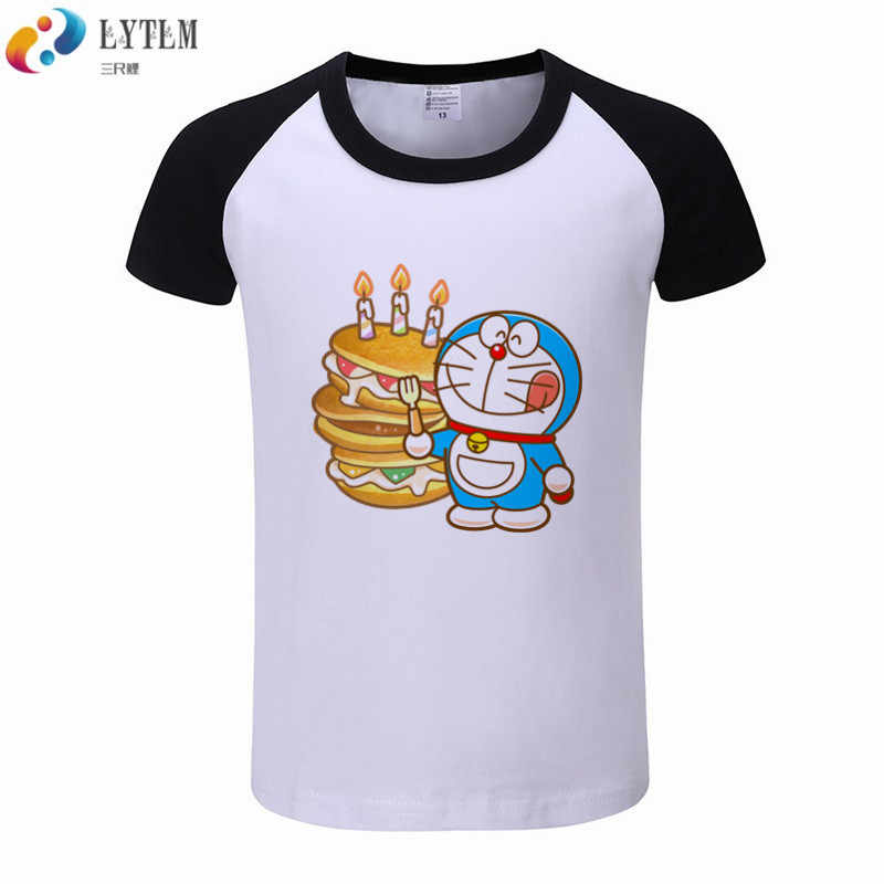 e86898349 Detail Feedback Questions about LYTLM Doraemon Shirt Kids Cake Hamburger Boys  Girls Short Sleeve T Shirts For Kids Baby Girls Clothes Raglan Toddler Boy  ...