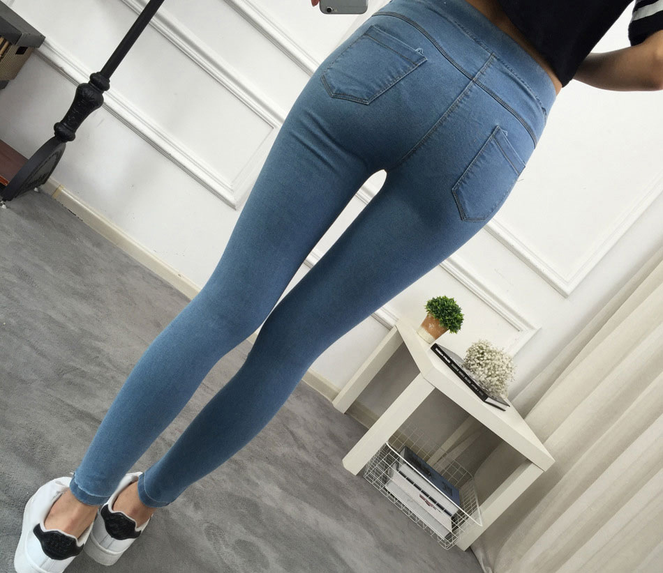 BIVIGAOS Basic Skinny Womens Jeans Ankle Pencil Pants Slim Elastic Denim Pants Jean Leggings Female Cotton Jeggings Jeans Women 6