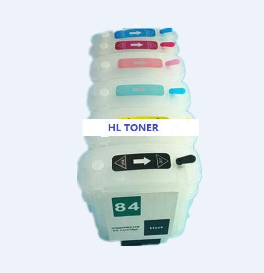 with chip Compatible Refillable ink cartridge hp85 hp84 for HP Designjet 130 30  90 series <br><br>Aliexpress