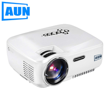 AUN Projector AM01C 1400 Lumens LED Projector Support 1920x1080 with 3D MINI Beamer for Home Cinema Free HDMI Cable home theater