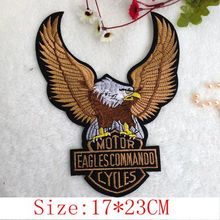 3pcs Motorcycle Badge USA Flag Harley Eagle embroidered Iron On or sew on Patches garment  badge Appliques DIY accessory   PT133