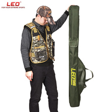 LEO Fishing Rod Bags Canvas Fishing Pole Tools Army green Fishing Tackle Bags Pouch Holder 100/150cm Multi-purpose Fishing Bags