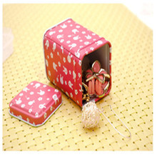 1Pcs decoration Collection Display Candy Pill Chutty Mini Storage Metal Cartoon Tin Box