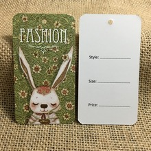 250pcs/lot New Design Swing Tag Price Tags for Clothing Garment Tags Labels Clothing Price Tag Custom Printed
