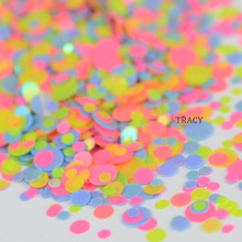 1 bottle Summer Designs Multi Colorful Round Sequin Nail Art Glitter Paillette Mixed 1mm/2mm/3mm DIY Nail Flake Decor TRP39(China)
