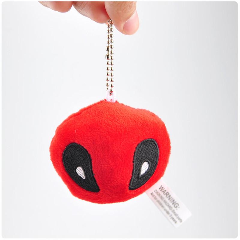 X-Men Deadpool Plush Toys Movie & TV Super Heroes Deadpool Key Bag Pendants Dolls Cosplay Promotional Gift 10pcslot 7cm (2)