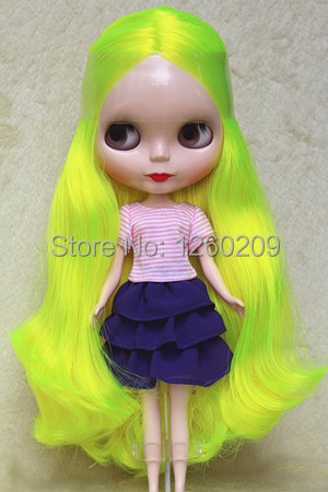 Custom Nude Doll Neo Doll for Sale with Bright Green Long Curly Hair for Baby Girls gift And Holiday Gift(China (Mainland))