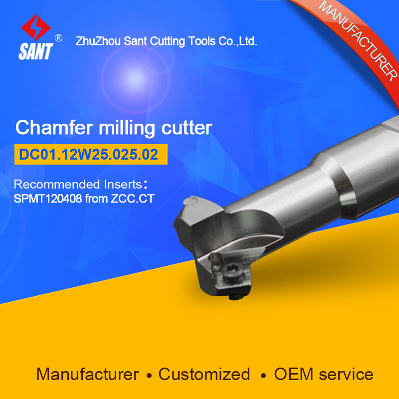 Refer to CMD01-025-XP25-SP12-02 or DC01.12W25.025.02 Chamfer Milling Tools for Inserts SPMT120408<br>