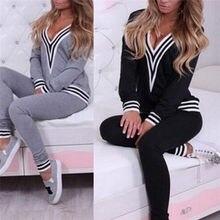 Fashion Female Fitness Wear Womens TrackSuit With Hood Black Long Sleeve  Crop Top And Legging Pants 2 Piece Set 415ca20ec9da