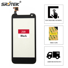 Srjtek screen FOR HTC Desire 310 D310 Outer Glass Panel Front Lens Outr Glass Replacement Parts 4.5inch Black(China)