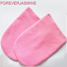 FOREVERJASMINE 1pair Paraffin Wax Protection Hand Gloves for Warmer Wax Heater Professional Mini SPA Cotton Mittens
