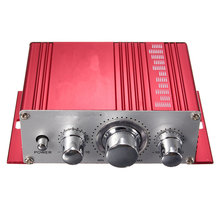 12V Hot Selling Mini Hi-Fi Stereo Amplifier Audio MP3 Auto Car 2 Cananal Stereo DVD Speaker Blue Red Yellow(China)