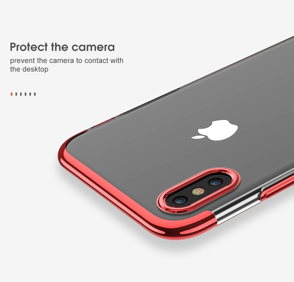 FLOVEME Luxury Plated TPU Case For iPhone X 10 Transparent Ultra Thin Silicone Cover For iPhone 7 6 6S Plus Phone Accessories 9