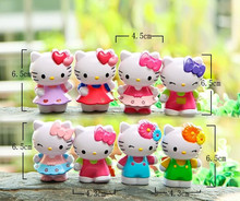 8Pcs/Lot 7cm Classic Limited Edition Hello Kitty Toy Figure Collection Gifts for Kids(China)