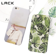 LACK Banana leaf Phone Case For iphone 6 Case Abstract Art Hard Frosted Coque For iphone 6s 6 Plus Oil Painting Girl Cover Funda(China)