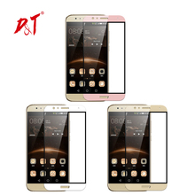 New! 9H2.5D For Huawei G8/GX8 High Quality Full Cover Color White pink Golden Tempered Glass Screen Protector for Huawei G7 Plus(China)