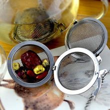 2017 Hot Sale Stainless Steel Tea Infuser Strainer Mesh Tea Filter Spoon Hooking Chain Diameter 4.5cm and 5.5cm Free Shipping