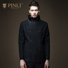 Peacoat Special Offer Half Mandarin Collar Solid No Mens Pea Pinli 2016 New Men's Slim Long Winter Wool Coat B164202211