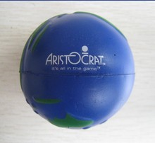 6.3cm dia  OEM pu foam material pu globe stressball,earth toy,promotion gifts,in printing your logo  50pcs/lot