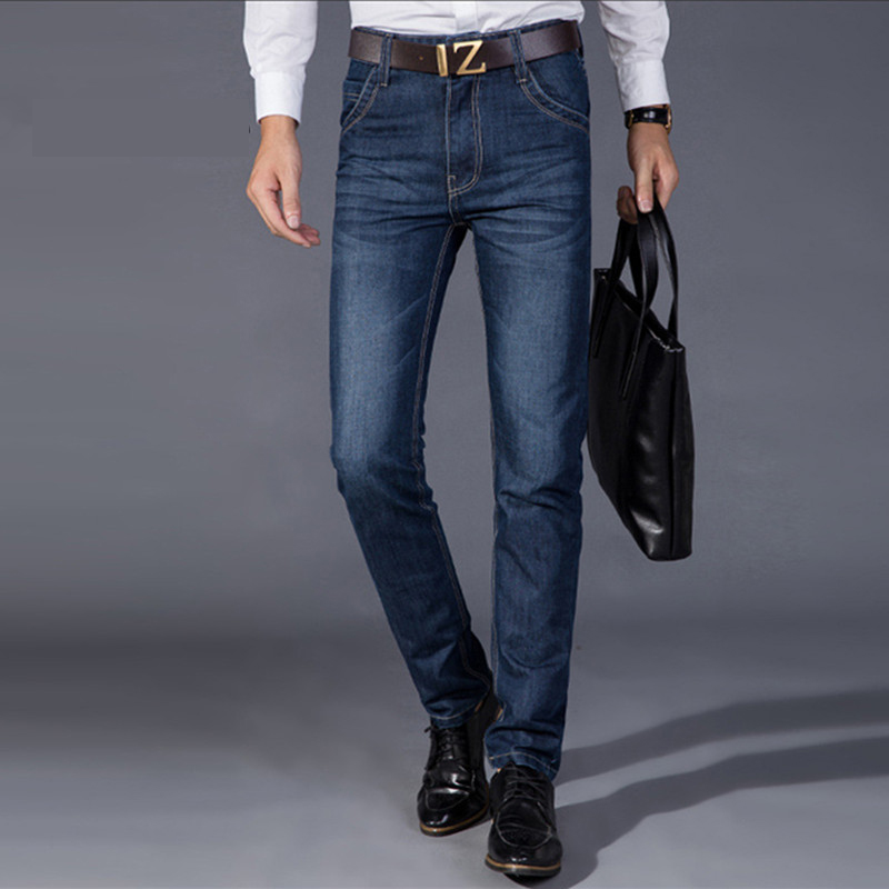 2017 Mens jeans  line Business elasticity straight Trousers Straight tube casual jeansОдежда и ак�е��уары<br><br><br>Aliexpress