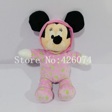 New Baby Noctilucent Minnie Plush For Girls 32CM Kids Stuffed Toys Children Christmas Gifts(China)