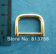 50 pcs Shine Gold Plated D-Rings Diecast - 3/4 Inch inner Dia High Quality Metal D ring