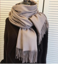 Luxury Brand Scarf Unisex 2016 Female Male Best Quality Wool Cashmere Scarf Pashmina Tassels Women Men Wrap Size 200cmx65cm